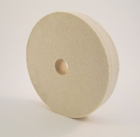 "Felt 8"" Dia, Hard density, 1"" Thick, 1"" Arbor Hole"