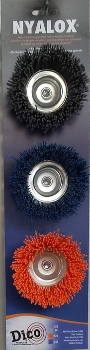 "3 Pc Nyalox 2.5 ""Abrasive Cup Brush Assort"
